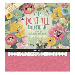 Orange Circle Do It All 2018 Calendar Bold Blossoms