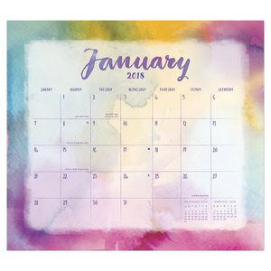 Orange Circle Magnetic Monthly Pad 2018 Aquarelle