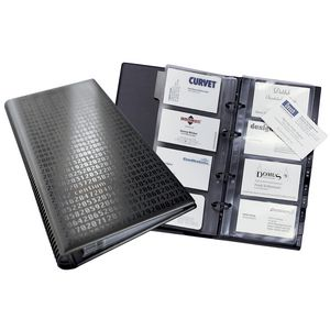 Durable Visifix Business Card Ring Binder 200 Capacity Black