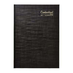 Cumberland A4 2 Days to Page 2016 Appointment Diary Black