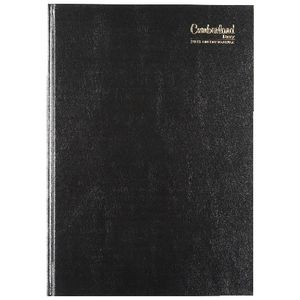 Cumberland A4 2018 Day to View Desk Diary Black