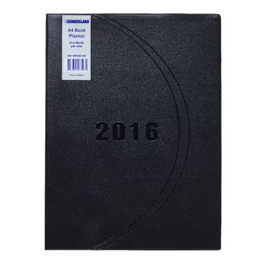 Cumberland A4 Month to View 2016 Desk Planner Assorted