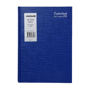 Cumberland Casebound A5 Day to Page 2016 Diary Blue