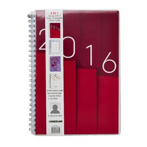 Cumberland 4 in 1 A5 Week to View 2016 Diary Assorted