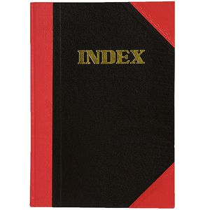 Cumberland A5 Red and Black Notebook Index