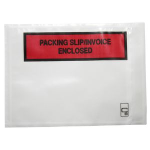 Cumberland Packing Slip Enclosed Envelopes Clear 1000 Pack