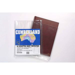 Cumberland A4 Heavy Weight Gusseted Sheet Protectors 10 Pack