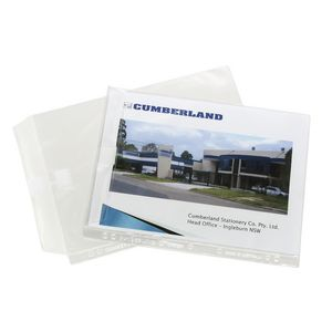 Cumberland A4 Heavy Weight Sheet Protectors with Flap 10 Pack