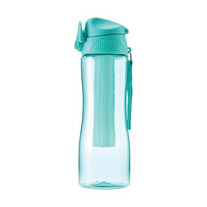 Curve Push Button Sipper Drink Bottle 600mL Teal