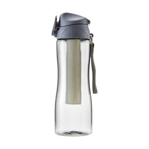 Curve Push Button Sipper Drink Bottle 600mL Grey