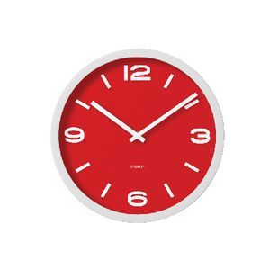 Degree Elapse 30cm Clock Red