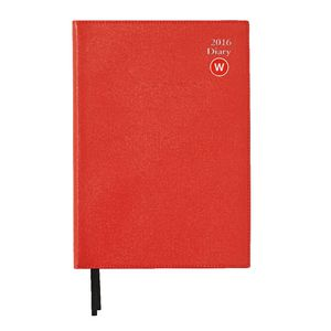 J.Burrows A4 Week to View 2016 Executive Diary Red