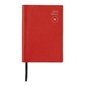 J.Burrows A5 Week to View 2016 Executive Diary Red