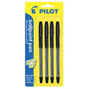 Pilot BPS-GP Medium Ballpoint Pens Black 4 Pack