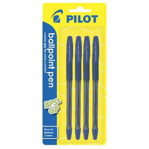 Pilot BPS-GP Medium Ballpoint Pens Blue 4 Pack