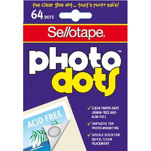 Sellotape Photo Dots 64 Pack