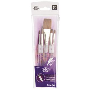 Royal & Langnickel Synthetic Sable Stroke Brush Set 4 Piece