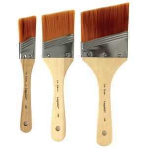 Royal & Langnickel White Angular Paintbrush Set 3 Pack