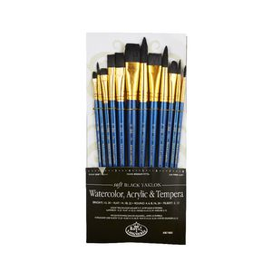 Royal & Langnickel Soft Black Brush Set 12 Piece