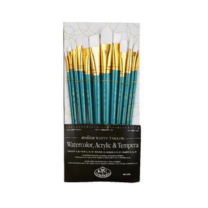 Royal & Langnickel Medium White Brush Set 12 Piece