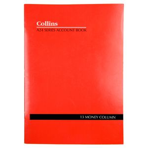 Collins A24 A4 Analysis Book 13 Money Column