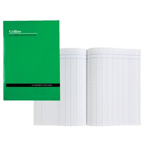 Collins A24 A4 Analysis Book 14 Money Column
