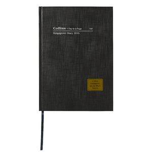Collins Debden Kingsgrove A4 Day to Page LE 2016 Diary Black