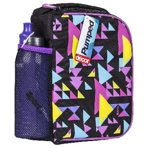 Decor Pumped Cooler Bag with Slider Sport Bottle Assorted
