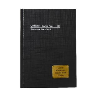 Collins Debden Kingsgrove A5 Day to Page LE 2016 Diary Black