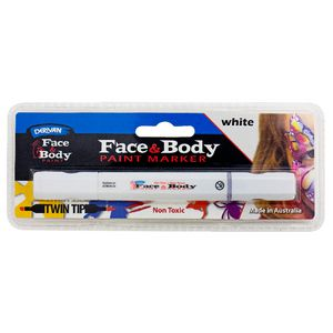 Derivan Face and Body Paint Marker White