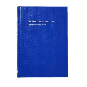 Collins Debden Kingsgrove A5 2 Days to Page 2016 Diary Blue