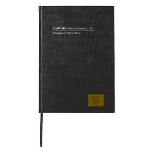 Kingsgrove A4 Week to View 2016 Limited Edition Diary Black