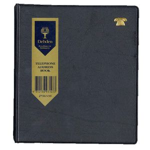 Collins Debden 6 Ring Bound Phone and Address Book Black