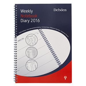 Collins Debden A4 Weekly Notebook 2016