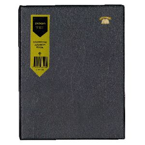 Collins Debden 3 Ring Address Book Black