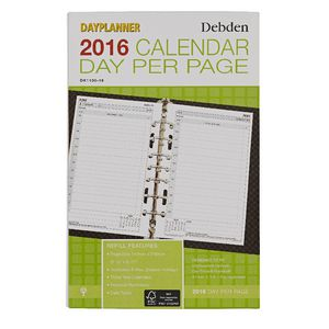 Collins Debden Desk Day Planner Day Per Page 2016 Refill