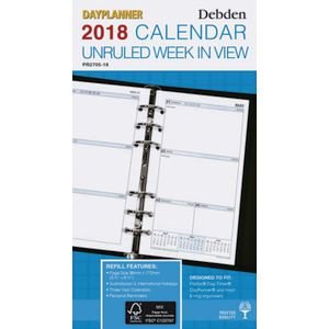 Collins Debden Weekly Dated Unruled Personal Planner