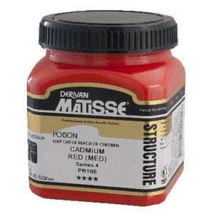 Derivan Structure Paint 250mL Cadmium Red Medium
