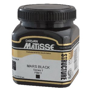Derivan Structure Paint 250mL Mars Black