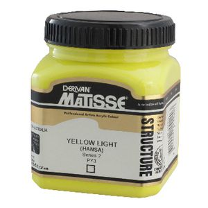 Derivan Structure Paint 250mL Yellow Light Hansa
