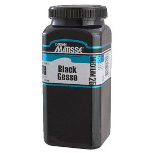 Derivan Matisse MM25 Black Gesso 500mL