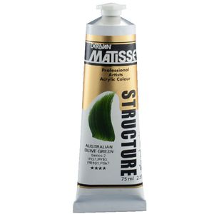 Derivan Structure Paint 75mL Australian Olive Green S2