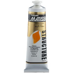 Derivan Structure Paint 75mL Cadmium Orange S4
