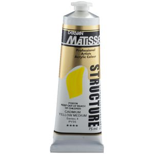 Derivan Structure Paint 75mL Cadmium Yellow Medium S4