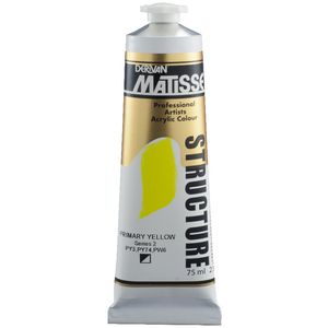 Derivan Structure Paint 75mL Primary Yellow