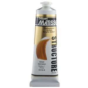 Derivan Structure Paint 75mL Raw Sienna S1