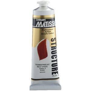 Derivan Structure Paint 75mL Transparent Red Oxide S3