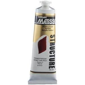 Derivan Structure Paint 75mL Transparent Venetian Red S3