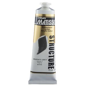 Derivan Structure Paint 75mL Graphite Grey S2