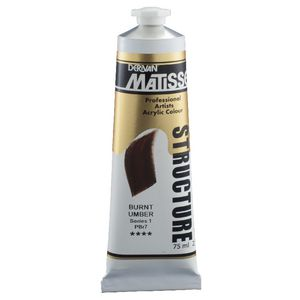 Derivan Structure Paint 75mL Burnt Umber S1